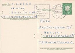 Berlin - Postkarte Ganzsache Heuss 10 Pf. - Werbestempel Luftpostbrief Nach Übersee - 1960 (49237) - [5] Berlin