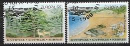 Cyprus 1999. Scott #933-4 (U) Europa, Natl. Parks And Nature Preserves ** Complete Set - Ongebruikt