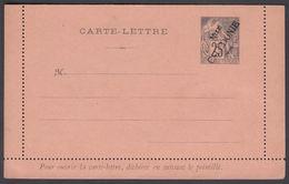 1892. NLLE CALACONIE. CARTE-LETRE COLONIES POSTES REPUBLIQUE FRANCAISE Double.  25 C.... () - JF322054 - Nouvelle-Calédonie