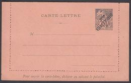 1892. NLLE CALACONIE. CARTE-LETRE COLONIES POSTES REPUBLIQUE FRANCAISE Double.  25 C.... () - JF322055 - Nouvelle-Calédonie