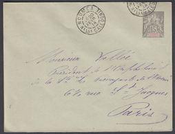 1914. NLLE CALACONIE ET DEPENDANCES. Envelope 145 X 112 Mm. 15 C. Gray.  NOUMEA NELLE... () - JF322108 - Nouvelle-Calédonie