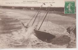 """CPA Naufrage De La Goëlette """"L'Union De Lorient"""" Aux Rochers De Vallières, Mars 1912 - France"""