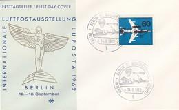 Berlin - Schmuckkuvert Und Sonderstempel LUPOSTA 1962 (49242) - Storia Postale