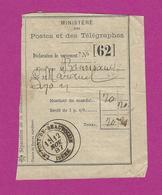 RÉCÉPISSÉ LE PONT DE BEAUVOISIN ISERE 1887 - Marcofilie (Brieven)