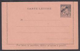1892. GUYANE. CARTE-LETTRE COLONIES POSTES REPUBLIQUE FRANCAISE.  25 C.  Black.  () - JF322169 - Guyane Française (1886-1949)