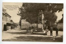 Saint Julien De Lampon Monument Aux Morts La Poste - France