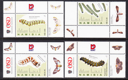 2010 Namibia Caterpillars Insects Butterflies Complete Set Of 4 MNH - Namibia (1990- ...)