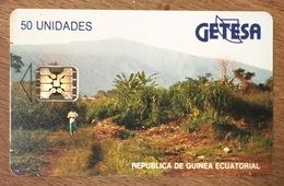 GUINÉE ÉQUATORIALE GUINEA ACUATORIAL GETESA TÉLÉCARTE PHONECARD UT CARD TELECARTE - Guinée-Equatoriale
