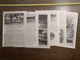 1918 LPT L ECOLE DES TIGRES CHEZ LES CONSCRITS DE LA CLASSE 19 CITE DU FROID VISITE FRIGORIFIQUE GEANT DE GIEVRES - Vecchi Documenti