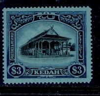 ! ! Kedah - 1921 Council Chamber $3 - Scott 44 - MH (Z010) - Kedah
