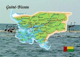 Guinea-Bissau Country Map New Postcard Landkarte AK - Guinea-Bissau