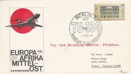 DDR Erstflug Berlin-Moskau Interflug TU134 1969 (49253) - Covers & Documents