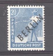 Allemagne  -  Berlin   :  Mi  8 IV  *   Variété : R  Brisé - Berlin (West)
