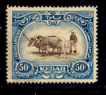 ! ! Kedah - 1912 Native Plowing 50c - Scott 16 - MH (Z021) - Kedah