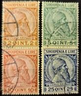 ALBANIA 1913 - Canceled - Sc# 35, 36, 37, 38 - 2q 5q 10q 25q - Albanie