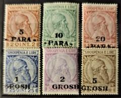 ALBANIA 1914 - MLH - Sc# 47, 48, 49, 50, 51, 52 - Albanie