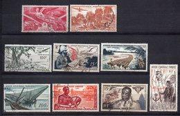 A.E.F -- Poste Aérienne--Lot De 9 Timbres Oblitérés ...cote  9.50€.......à Saisir - A.E.F. (1936-1958)