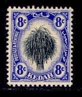 ! ! Kedah - 1912 Sheat Of Rice 8c - Scott 09 - MH (Z030) - Kedah