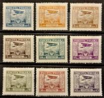 POLAND 1925 - MLH - Sc# C1-C9 - Complete Set! - Air Mail - Poste Aérienne