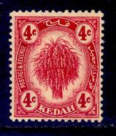 ! ! Kedah - 1912 Sheat Of Rice 4c - Scott 07 - MH (Z034) - Kedah