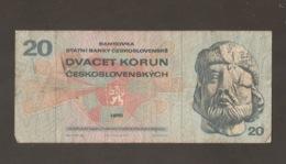 CECOSLOVACCHIA 20 KORUN 1970 (W40) - Cecoslovacchia