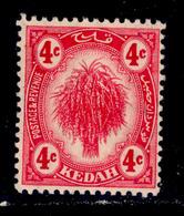 ! ! Kedah - 1921 Sheat Of Rice 4c - Scott 28 - MH (Z035) - Kedah