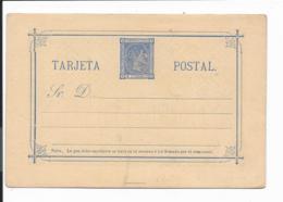 Spanien P 6 II ** - 5 Cs Alfons Xii Karte  Blau - Interi Postali