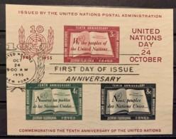 UNITED NATIONS - (0) - 1955 - # BLOCK 1 - New-York - Siège De L'ONU