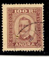 ! ! Angra - 1892 D. Carlos 100 R (Perf. 13 1/2) - Af. 09 - Used - Angra