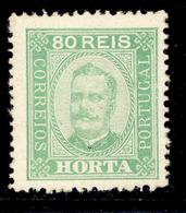 ! ! Horta - 1892 D. Carlos 80 R (Perf. 12 3/4) - Af. 08 - MH - Horta