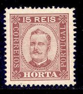 ! ! Horta - 1892 D. Carlos 15 R (Perf. 12 3/4) - Af. 03 - MH - Horta