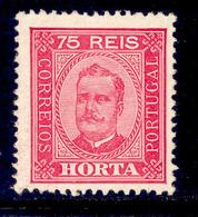 ! ! Horta - 1892 D. Carlos 75 R (Perf. 12 3/4) - Af. 07 - MH - Horta