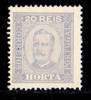 ! ! Horta - 1892 D. Carlos 20 R (Perf. 12 3/4) - Af. 04 - MH - Horta
