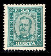 ! ! Horta - 1892 D. Carlos 25 R (Perf. 11 3/4) - Af. 05 - MH - Horta