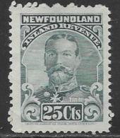 Newfoundland Revenue George V, Barefoot # 19, 1910 - Newfoundland