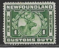 Newfoundland Revenue Caribou, Barefoot # 4, 1938 - Newfoundland
