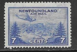 Newfoundland Scott # C19 Used Plane Over St. Johns, 1943 - Newfoundland