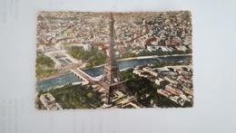 CPSM CIRCULEE EN 1960 - EN AVION SUR PARIS - Eiffelturm