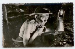 MINES CPSM 1951 GROS PLAN ANIME MINEUR ABATTAGE MINE DOUBLE CACHET CONVOYEUR AMBULANT HAZEBROUCK ARRAS BE - France