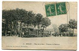 MELUN Place De La Gare Tramway De Barbizon - Melun