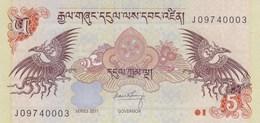 Bhoutan - Billet De 5 Ngultrum - 2011 - P28b - Neuf - Bhutan