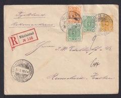 20 P. Ganzsache Als Einschreiben 1900 Ab Nikolaistad Nach Remscheid - 1856-1917 Russian Government