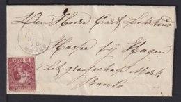 1870 - 10 C. Auf Kleinem Brief Ab OSS Nach Hasphe - Transitstempel - 1852-1890 (Guillaume III)