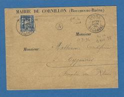 BOUCHES DU RHONE GRANS BOITE RURALE A CORNILLON - Marcofilie (Brieven)