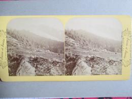 PHOTO STEREO - GLACIER DES BOSSONS - CHAMONIX -  Ed. B.K   - Fin XIX ème - TBE - Stereoscopio