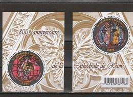 FRANCE 2011 ISSU DU BLOC 800E ANNIVERSAIRE CATHEDRALE DE REIMS OBLITERE YT 4549 - 4550 - France