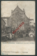 BRUXELLES. Le Marché Aux Vieux Objets, Rue Blaes. (Pub. Chocolat Cosmopolite, Anvers) Sér. 1, N°142. - Mercati