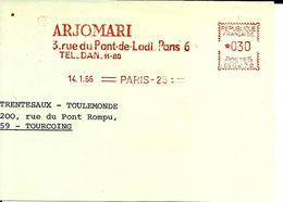 Lettre  EMA  Havas CG 1966 Arjomari  Usine Metier Papier  75 Paris C21/29 - Poststempel (Briefe)