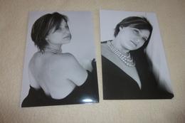 LOT DE 2 PHOTOS ...BELLE   FEMME SEXY - Personnes