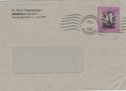 Ganzsache Greenpeace Rainbow Warrior 1030 Wien - 1985 Von Agenten Des Französischen Service Action In Auckland Versenkt - 2001-10 Briefe U. Dokumente